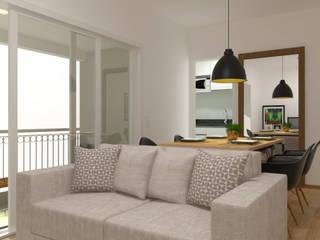 Studio Orbit 703 2:1 Arquitetura & Interiores Salas de estar industriais