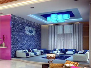 painting in noida Asian style living room by origin interiors noida Asian