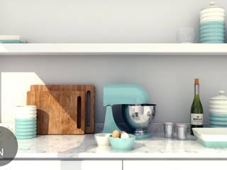 TON Mimarlık – Mutfak Tezgahı:  tarz