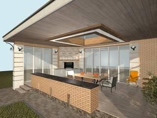Classic style balcony, veranda & terrace by архитектурная мастерская МАРТ Classic