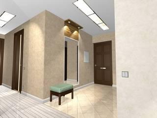 Pasillos, vestíbulos y escaleras modernos de архитектурная мастерская МАРТ Moderno