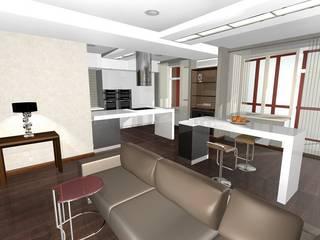 Modern living room by архитектурная мастерская МАРТ Modern