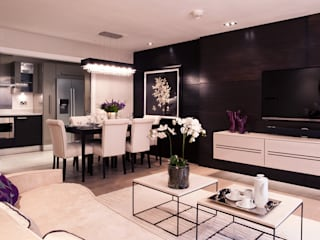 Chelsea Harbour:  Dining room by Definitive Interior Design