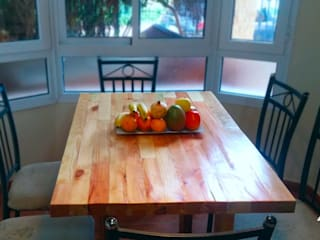 Mesa de comedor fabricada con madera de palets de Mideco Rústico