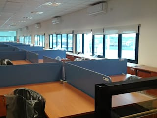 Cortinas Cabildo. Persianas y ventanas 011-4781-4022 15-3567-6716 Office spaces & stores Textile White