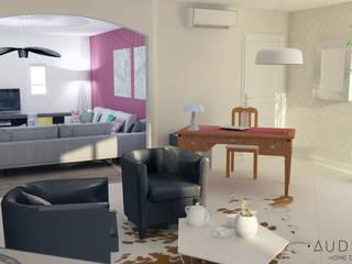 Espace bureau / modèle 3D:  de style  par AUDELIA HOME DESIGN