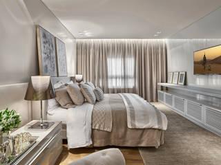 suite master: Quartos  por Alessandra Contigli Arquitetura e Interiores,Moderno
