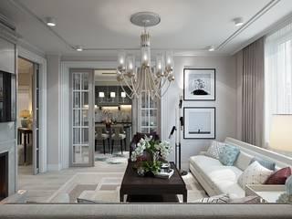 Salones de estilo ecléctico de Diana Tarakanova Design Ecléctico