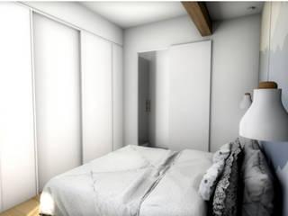 Vue de la chambre de la première version: Chambre de style  par Dem Design