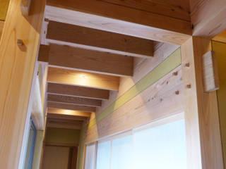 天伯の家 モダンスタイルの 玄関&廊下&階段 の 株式会社 望月工務店 モダン