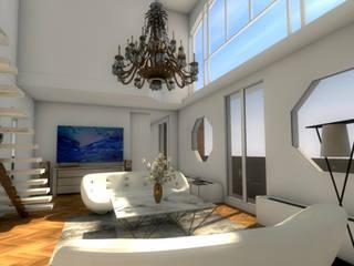 Vue du séjour: Salon de style  par Dem Design