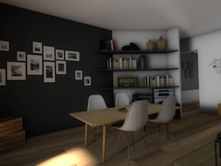 Vue de la salle à manger: Salle à manger de style  par Dem Design