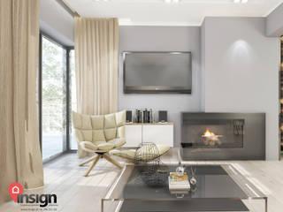 Living room by InSign Pracownia Projektowa Karolina Wójcik,