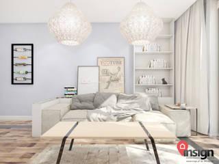 现代客厅設計點子、靈感 & 圖片 根據 InSign Pracownia Projektowa Karolina Wójcik 現代風