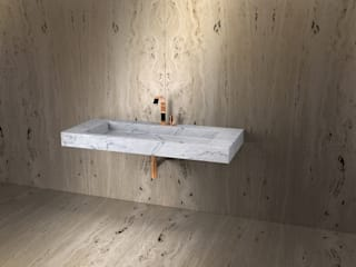 IWO JIMA TCC Whitestone BathroomSinks Marble White