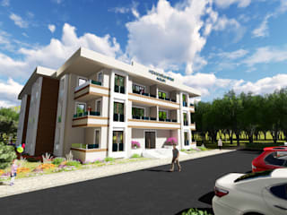 Hızarcıoğlu Sitesi Modern Evler Kesit Mimarlık Modern