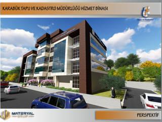 Kesit Mimarlık – Karabük Tapu Kadastro Binası Dış Cephe Tasarımı:  tarz Ofis Alanları