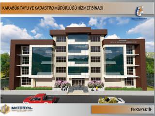 Karabük Tapu Kadastro Binası Dış Cephe Tasarımı Kesit Mimarlık Modern