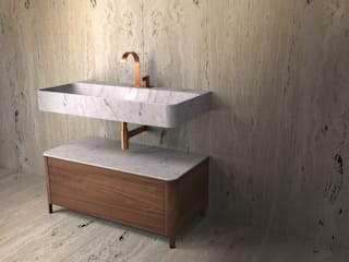 KATA NOI 1000 TCC Whitestone BathroomSinks Marble White