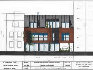 Maison éco responsable entièrement en bois: Maisons de style  par Jérome Picarat Architecte