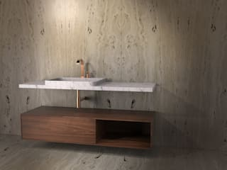 MOLOKAI TCC Whitestone BathroomSinks Marble White