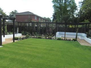 Contemporary Garden Design, Silchester, Berkshire Linsey Evans Garden Design Jardines de estilo moderno Arenisca Azul