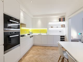 Kensington Basement Refurbishment Timothy James Interiors Dapur Minimalis Kayu White