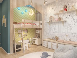 Kamar Bayi/Anak Minimalis Oleh Мастерская дизайна Welcome Studio Minimalis