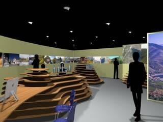 Centro de Informação Turística de Sabrosa Espaços comerciais modernos por arcq.o | rui costa & simão ferreira arquitectos, Lda. Moderno
