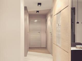 nowoczesne mieszkanie dla dwojga: styl , w kategorii Korytarz, przedpokój zaprojektowany przez Nova