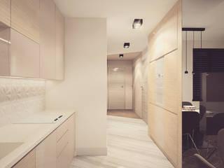nowoczesne mieszkanie dla dwojga: styl , w kategorii Kuchnia zaprojektowany przez Nova