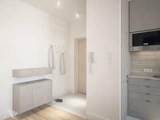 mieszkanie z akcentem kolorystycznym: styl , w kategorii Korytarz, przedpokój zaprojektowany przez Nova