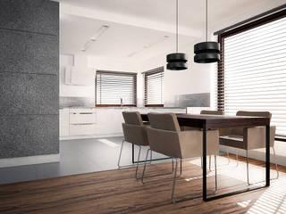 nowoczesny dom dla młodej rodziny: styl , w kategorii Kuchnia zaprojektowany przez Nova