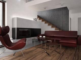 nowoczesny dom dla młodej rodziny: styl , w kategorii Salon zaprojektowany przez Nova