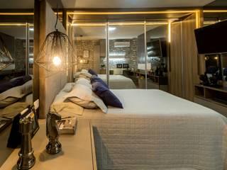 Phòng ngủ phong cách hiện đại bởi KARLA BARROS ARQUITETURA Hiện đại