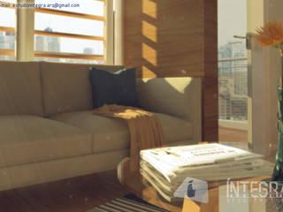 Aires de Contrastes Salones eclécticos de Íntegra Arquitectura Ecléctico