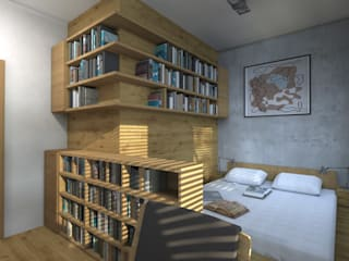 MIESZKANIE NA TARGÓWKU Nowoczesna sypialnia od ABP Architekci Nowoczesny