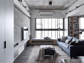 Salon moderne par 寬度 空間設計整合 Moderne