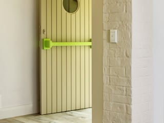 New front entrance: minimalistic Windows & doors by deborah garth interior design
