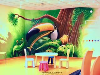 Kinderarzt Praxis Design von Wandgestaltung Graffiti Airbrush von Appolloart Ausgefallen