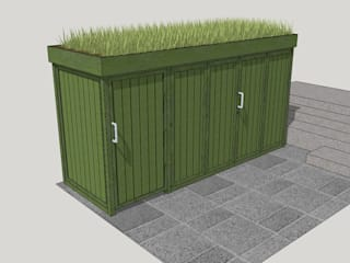 Bicycle Storage TreeSaurus Garages & sheds Solid Wood Green