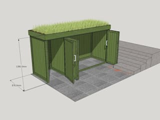 Bicycle Storage TreeSaurus Garages/schuren Massief hout Groen
