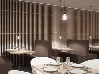 Schuster Innenausbau Gastronomi Modern Kayu Brown