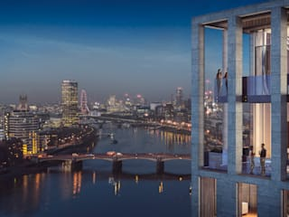 Nine Elms Square Casas modernas de Glass Canvas Moderno
