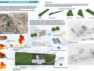 Casa J.T.D. Casas modernas: Ideas, imágenes y decoración de CASTELLINO ARQUITECTOS (+) Moderno