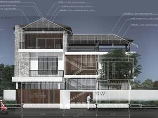 บ้านพักอาศัย3ชั้น:   by Panpunarchitects