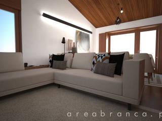 Projeto DA Salas de estar modernas por Areabranca Moderno