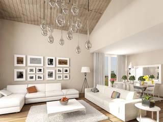 Pronil Modern living room Engineered Wood Beige