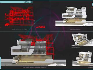 CASTELLINO ARQUITECTOS (+) 現代房屋設計點子、靈感 & 圖片 水泥 White