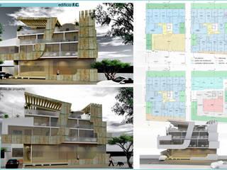 edificio F.C. Casas modernas: Ideas, imágenes y decoración de CASTELLINO ARQUITECTOS (+) Moderno